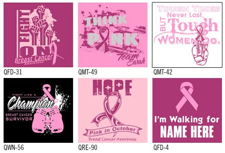design ideas for breast cancer awareness shirts