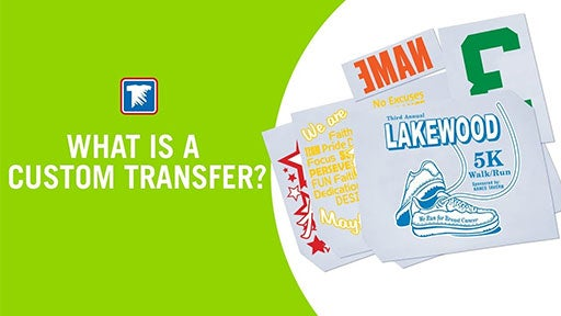 what is a custom heat applied transfer