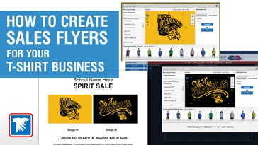 how to create sales flyers for your t-shirt business