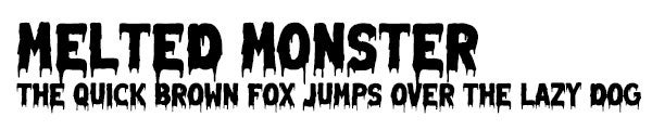 Melted Monster font