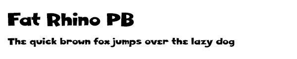 Fat Rhino PB font