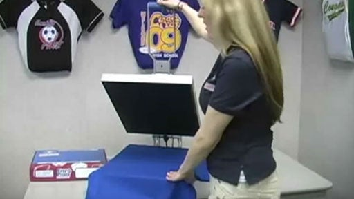 how to apply a screen printed transfer