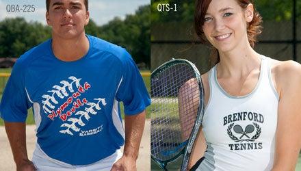 custom printed apparel for school sports teams
