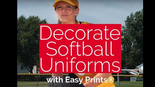decorate softball uniforms
