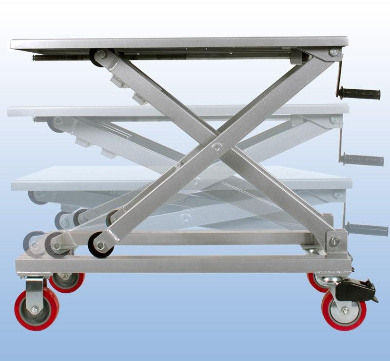 heat press equipment cart crank