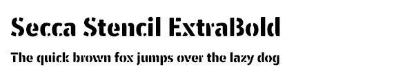 Secca Stencil ExtraBold font