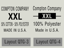shirt tag label layouts