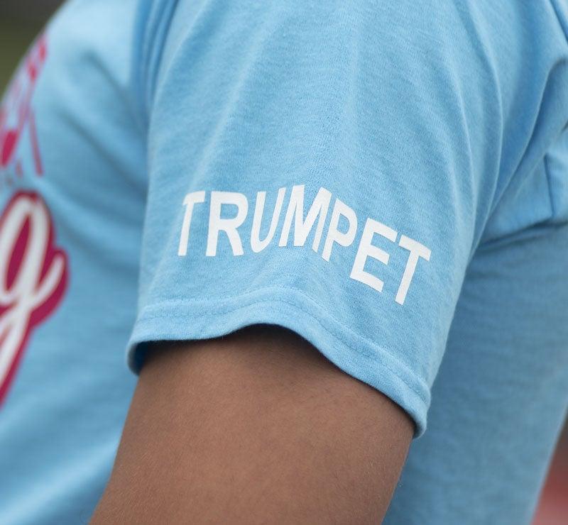 name on t-shirt sleeve
