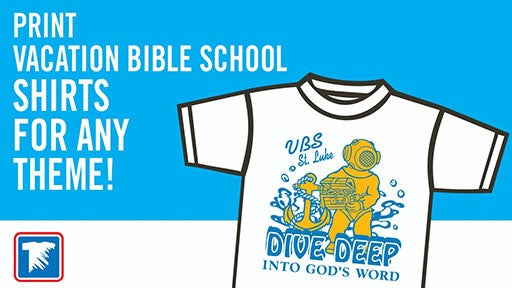 Vacation Bible School shirts for any theme