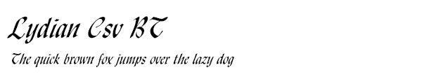 Lydian Csv BT font