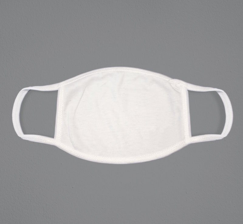 white blank face mask