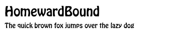 HomewardBound font