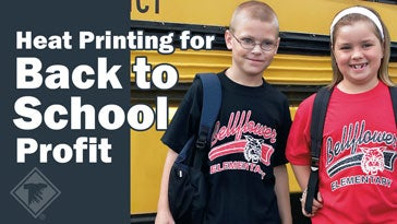 heat printing for back to school apparel
