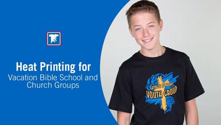 heat printing for church groups and vacation Bible school