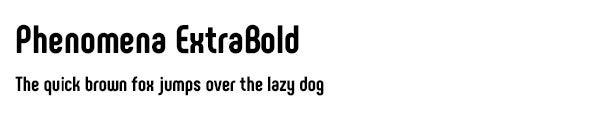 Phenomena ExtraBold font
