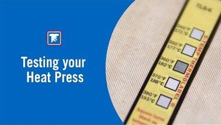 testing your heat press