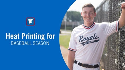 heat printing apparel for baseball season
