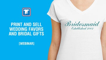 print and sell wedding favors and bridal gifts