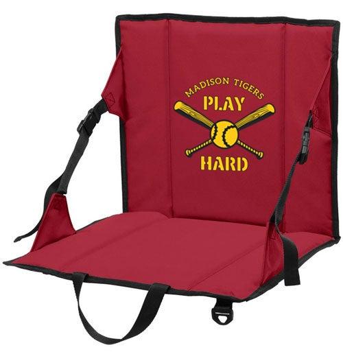 printed bleacher seat for baseball fans