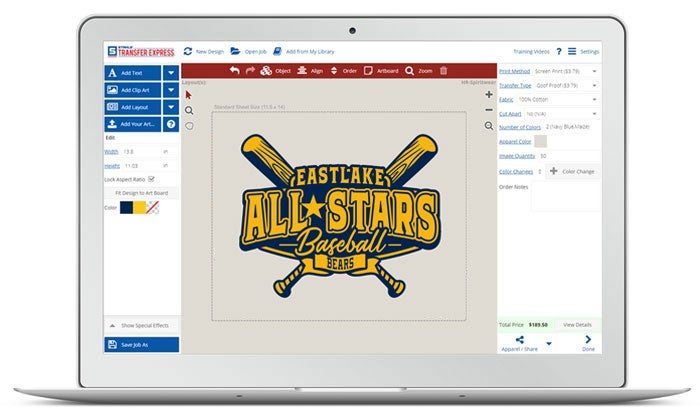 baseball designs in Easy View
