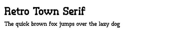 Retro Town Serif font
