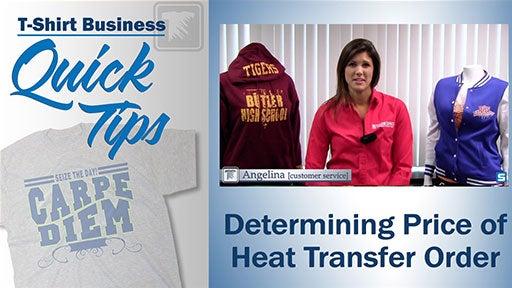 determining price of heat transfer order