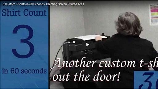 heat printing screen printed tees fast