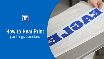 how to heat print leg transfers