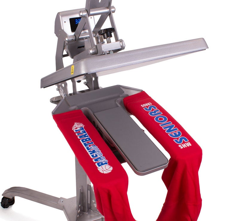double leg and sleeve heat press platen