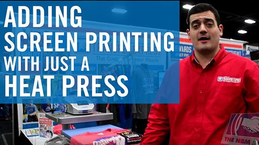adding screen printing with just a heat press