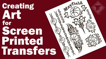 creating art for screen printed transfers