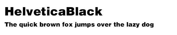 HelveticaBlack font