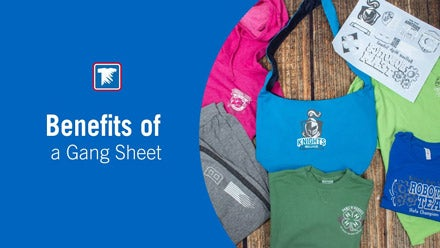benefits of a screen printed transfer gang sheet