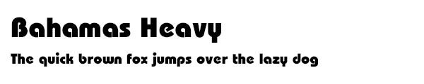 BahamasHeavy font