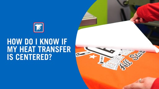 how to center a heat applied transfer