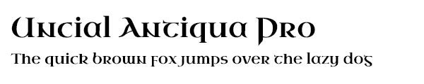 Uncial Antiqua Pro font