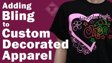 adding bling to custom decorated apparel