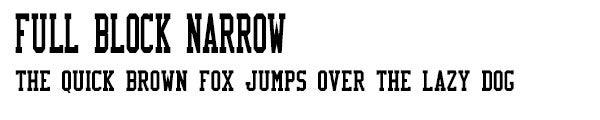 FullBlockNarrow font
