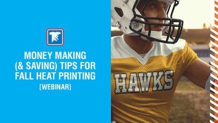 money making and saving tips for fall heat printing