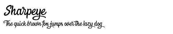 Sharpeye font