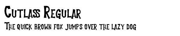 Cutlass Regular font