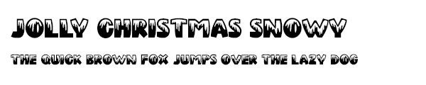 Jolly Christmas Snowy font