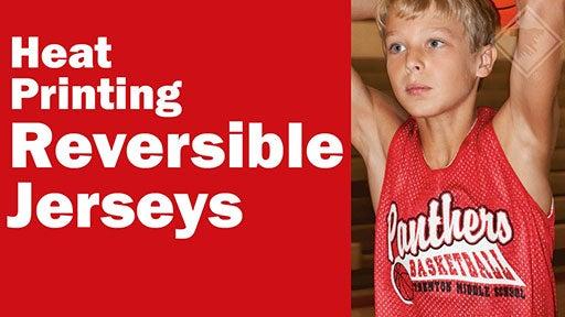 heat printing reversible jerseys
