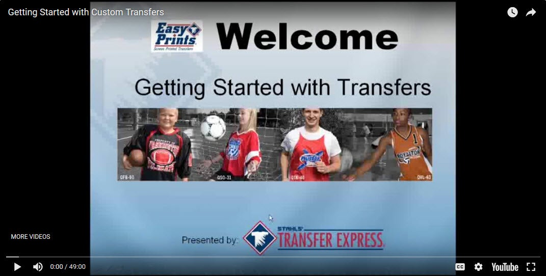 getting started with transfers