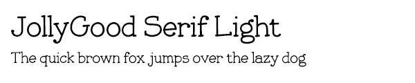 JollyGood Serif Light font