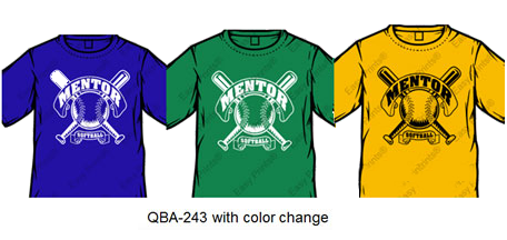 color change order for baseball team shirts