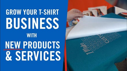 grow your t-shirt business with new products and services