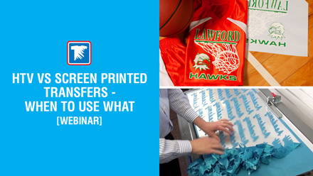 heat transfer vinyl vs screen printed transfers