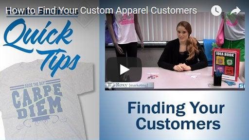 finding custom apparel customers
