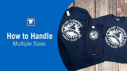 how to handle multiple shirt sizes when printing